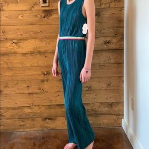 Satin Crinkled Rainbow Jumpsuit Youth 14/16 or 2/4